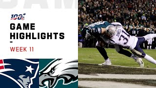Patriots vs. Eagles Week 11 Highlights   NFL 2019