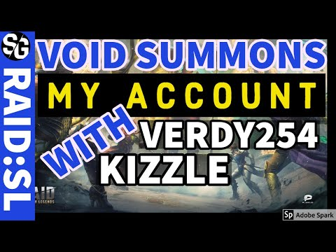 RAID SHADOW LEGENDS | VOID SUMMONS MY ACCOUNT LIVE ON STREAM