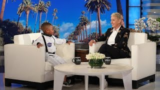 Kid Astronomy Expert Jerry Morrison III Shares His Secret with Ellen