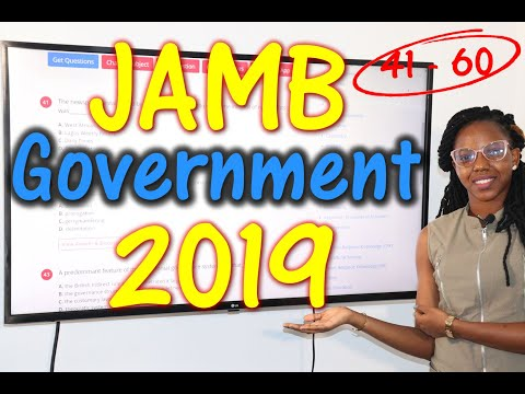 JAMB CBT Government 2019 Past Questions 41 - 60