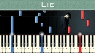 NF - Lie | Piano tutorial + MIDI