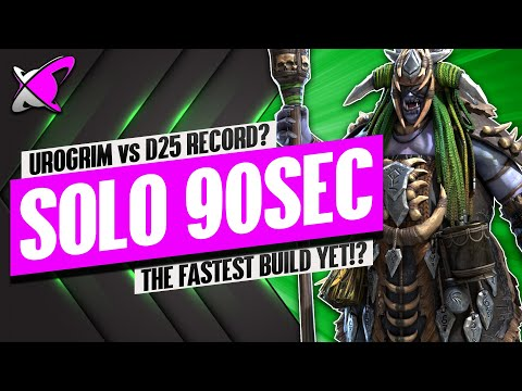 SOLO Dragon 25 In 90 Seconds... Or LESS !? | Urogrim Build & Masteries | RAID: Shadow Legends