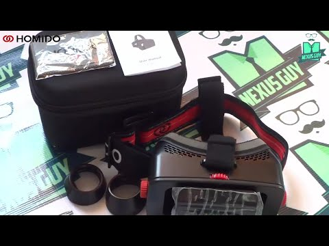 فتح صندوق واستعراض نظارة HOMiDO للواقع الافتراضي