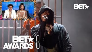 "De'arra And Ken Have Emotional Reaction To Meek Mill's ""Stay Woke"" Performance 