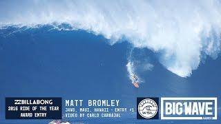 Matt Bromley at Jaws 1 - 2016 Billabong Ride of the Year Entry - WSL Big Wave Awards