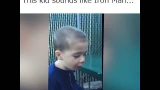 This Kid Sound Like Iron Man