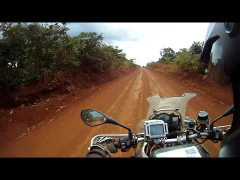 "London to South Africa Motorcycle Expedition – Some lovely ""red"" fast gravel roads in Tanzania"