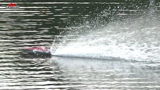 Feilun FT012 Upgraded FT009 2.4G Brushless RC Racing Boat self righting First Run