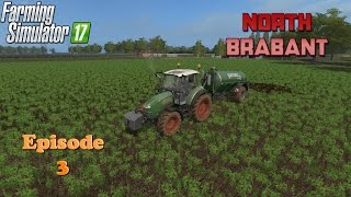 Let's Play Farming Simulator 2017 North Brabant Ep 3 Seeding, Silage Bales and Slurry Spreading