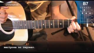"""Cómo Tocar """"Mariposa Traicionera""""  de Maná en Guitarra Acústica (HD) Tutorial - Christianvib"""