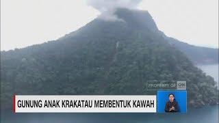 Gunung Anak Krakatau Membentuk Kawah