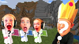 INSPECTOR JUDGES!  WHICH TEAM BUILDS BEST CAVE HOUSE in Minecraft w/ The Norris Nuts