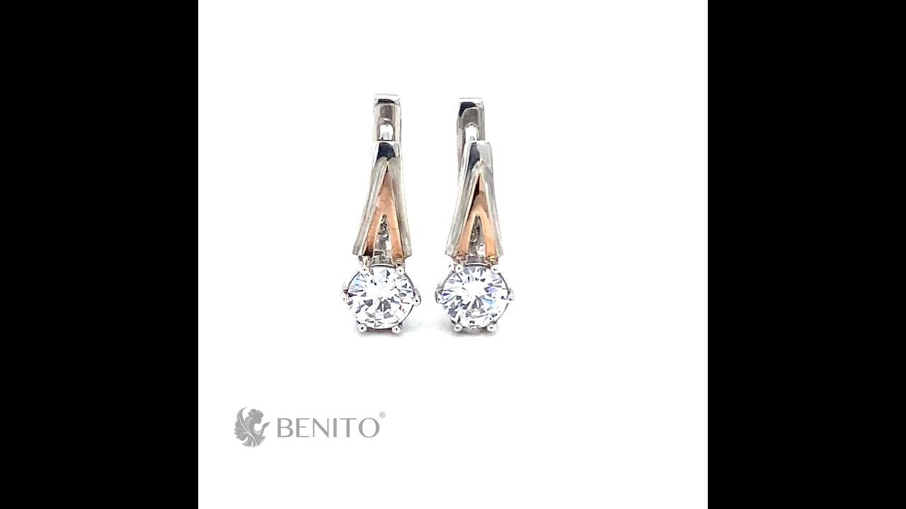 Catalina Earrings White Zircon Stones