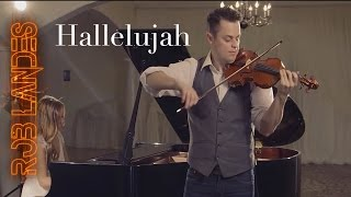 Hallelujah - Violin Looping cover - ONE TAKE (by Rob Landes and Aubry Pitcher)