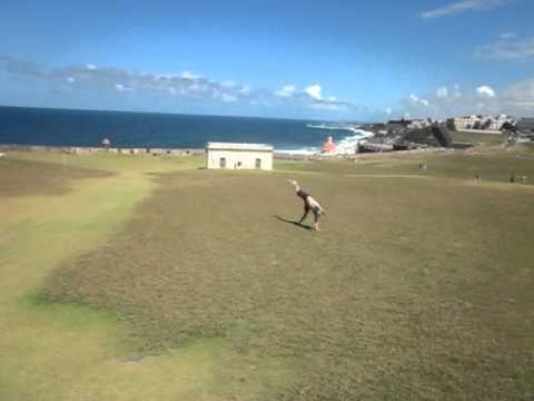 Cartwheels in Old San Juan, Puerto Rico!