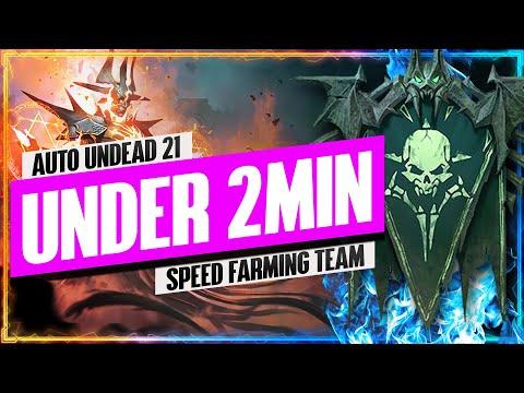 "Undead 21 UNDER 2 MIN ""Speed Farming"" Team | Faction Wars Guide | RAID: Shadow Legends"