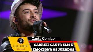 Gabriel Camilo emociona os jurados cantando Como Nossos Pais