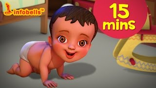 சாய்ந்தாடம்மா and more | Tamil Rhymes & Baby Songs Collection | Infobells width=