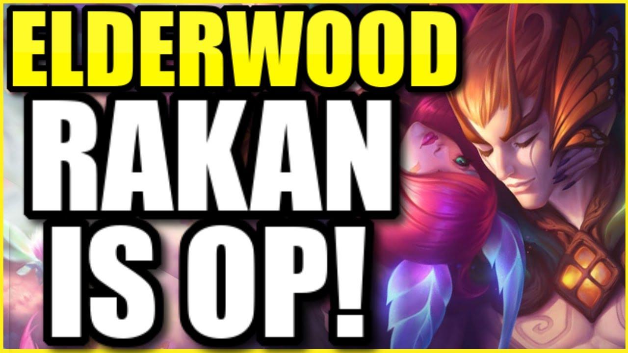 i0ki - THE NEW ELDERWOOD RAKAN MAKES HIM THE PRETTIEST CHAMPION IN THE GAME! ELDERWOOD RAKAN FULL GAMEPLAY