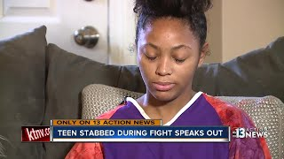 Teen stabbed during school fight was trying to stop fight, protect family member