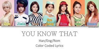 AOA - YOU KNOW THAT (말이 안 통해) [Color Coded Han|Rom|Eng]