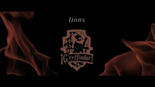 lions; {gryffindor house}