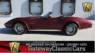 1975 Chevrolet Corvette Convertible Now Featured in Our Milwaukee Showroom #62-MWK