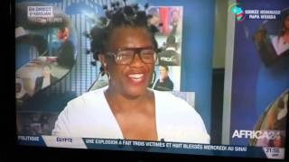 MAGIC DIEZEL rend hommage à Papa Wemba sur le plateau de la chaîne de télévision Africa 24