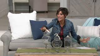 Scott Living Set of 3 Graduated Fillable Glass Apothecary Jars on QVC