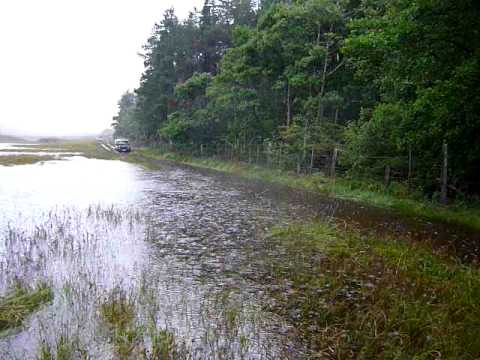 Kilmory Road Isle of Rum Flooded