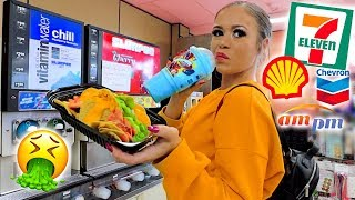 I only ate GAS STATION food for 24 HOURS!   Krazyrayray