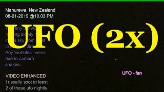 UFO(2x) captured high in the night sky at Manurewa NZ on 8th January 2019 at 10 03 PM