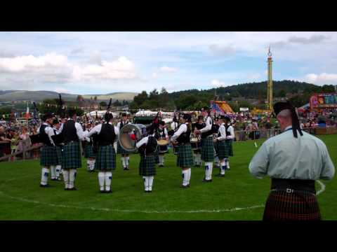 MacKenzie Caledonian Pipe Band Highland Gathering Crieff Perthshire Scotland August 19th