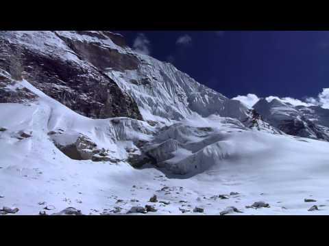 Panorama of the Drolambuglacier, Nepal