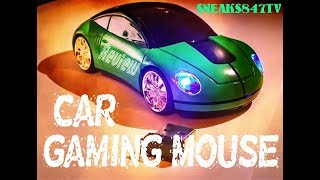 2.4GHz 3D Car Shape Wireless Optical Mouse USB Gaming Mouse With Receiver For PC Laptop (Green)