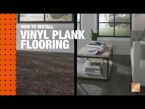 Vinyl plank flooring in a bright kitchen.