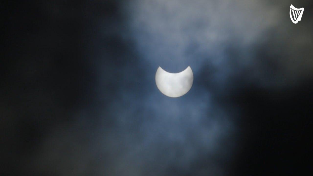 Partial Solar Eclipse Darkens Skies over Ireland