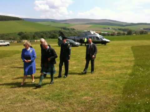 Prince Charles landing at The Glenlivet distillery for the re-opening on June 4th 2010