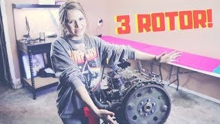 Rebuilding a ROTARY Engine for the FIRST time!! RX7 3 Rotor   Project Drift - EP 38