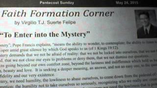"""To Enter Into The Mystery""/Virgilio T. J. Suerte Felipe/cover"