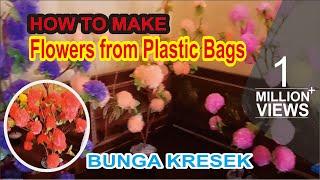 ZonaKreatif - Membuat Bunga Dari Kantong Plastik (kresek) width=