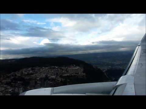 Lan Ecuador Landing in Quito from Miami