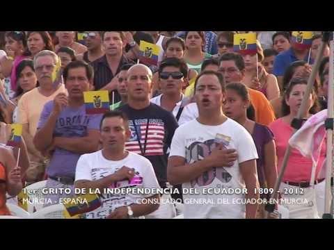 HIMNO NACIONAL DEL ECUADOR EN MURCIA ESPAÑA .mov