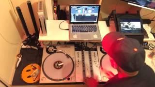 DJ Ace on the scratch