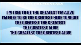 SIA - The Greatest [ KARAOKE / INSTRUMENTAL ] ft. Kendrick Lamar