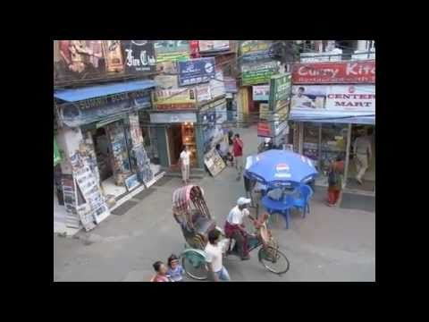 Thamel Street in Kathmandu, Nepal