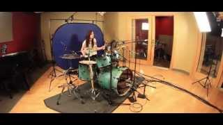 Jessica Anderson - Miley Cyrus - SMS (Bangerz) Drum Cover Remix