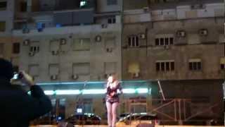 """Marika Cecere_ canta """"Città Vuota"""" ( Mina) _ """"Napoli Piazza Mercato"""""""