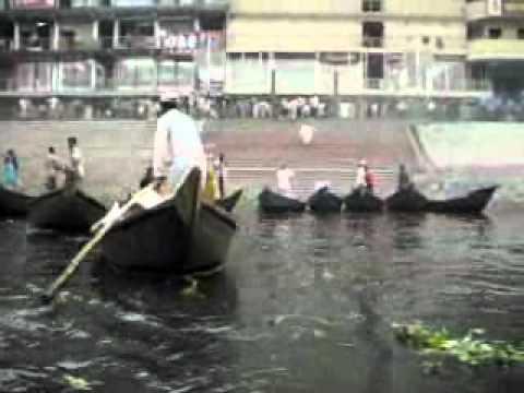 rejs łupinką po Burigandze, Dhaka, Bangladesh.wmv