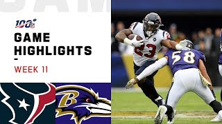 Texans vs. Ravens Week 11 Highlights   NFL 2019